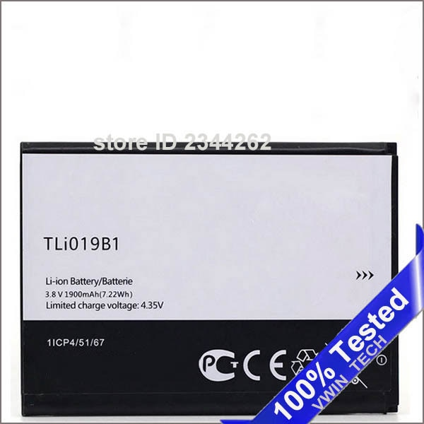 TLI019B1 TLi019B2 Battery for ALCATEL one touch POP C7 7041D OT-7041 dual CAB1900003C2 1900mAh