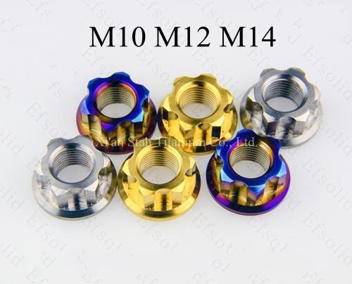 Титановая TC4 гайка заднего колеса мотоцикла M10 * P1.25 M12 * P1.25 M14 * P1.5