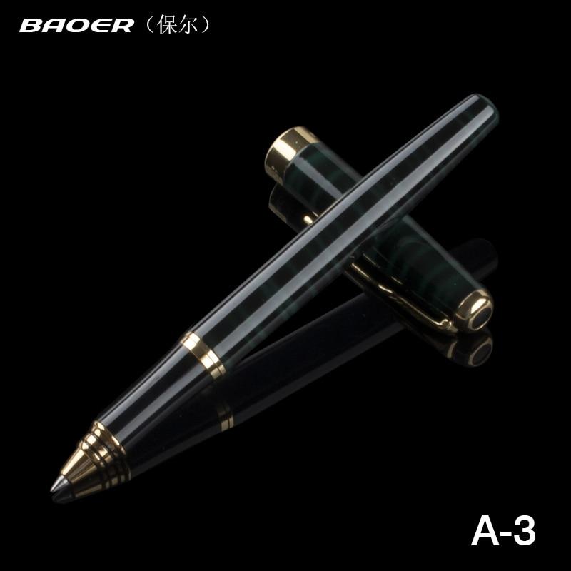 Роскошная качественная цветная шариковая ручка Baoer 388 со средним наконечником для бизнеса офиса школы офиса Новинка Шариковая Ручка