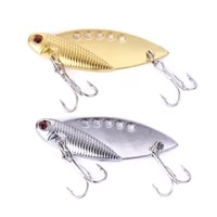 1pcs metal fishing spoon 5cm 10g crankbait hard bait trout spoons gold sliver wobblers pesca for bass pike tackle
