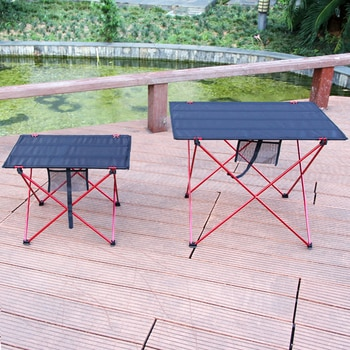 Table extérieure Portable pliable meubles de Camping Tables d'ordinateur pique-nique taille S L 6061 Al couleur claire anti-dérapant bureau pliant