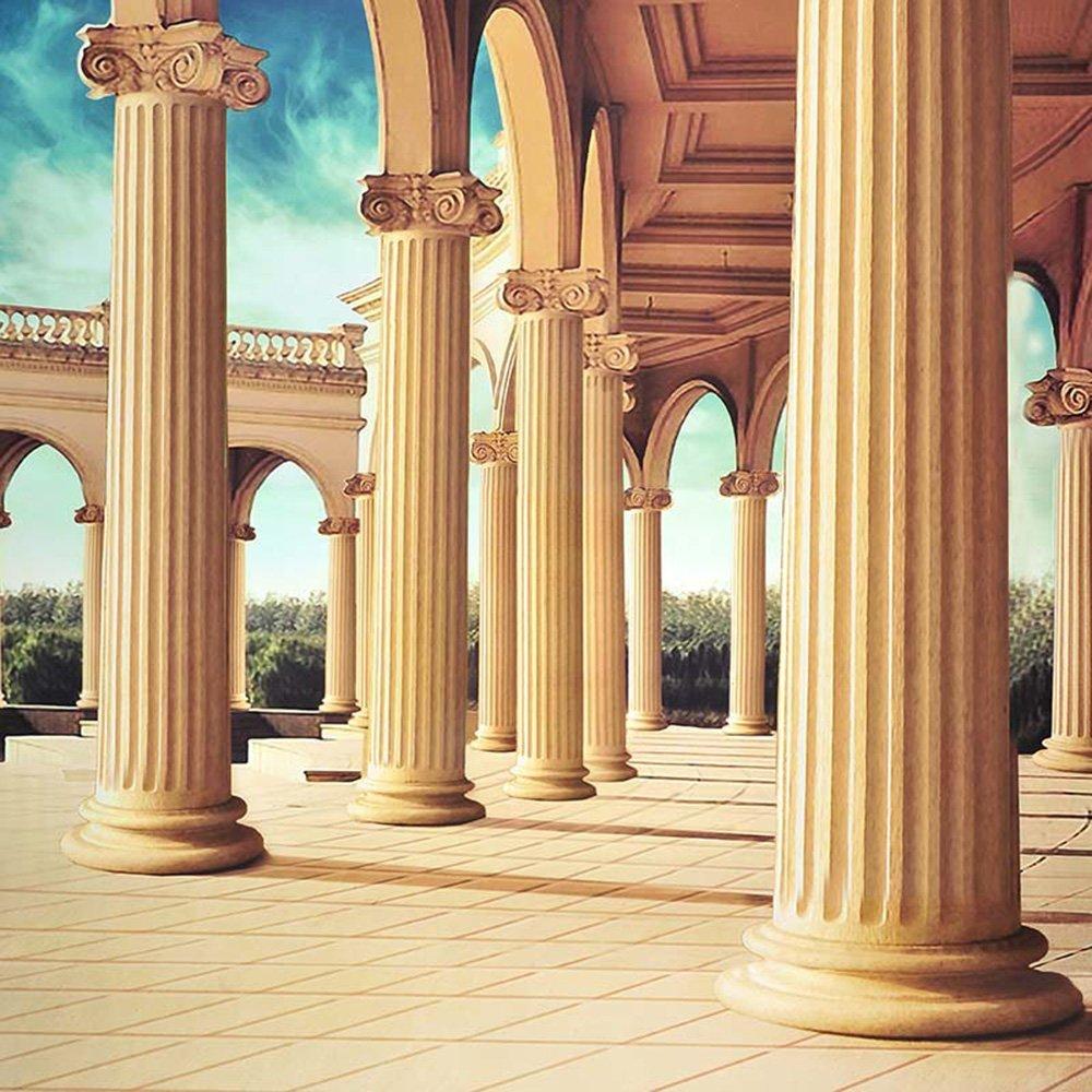 Arquitectura europea pilares de piedra boda escénica fotografía telones de fondo cielo azul Vintage Castillo foto de fondo para estudio
