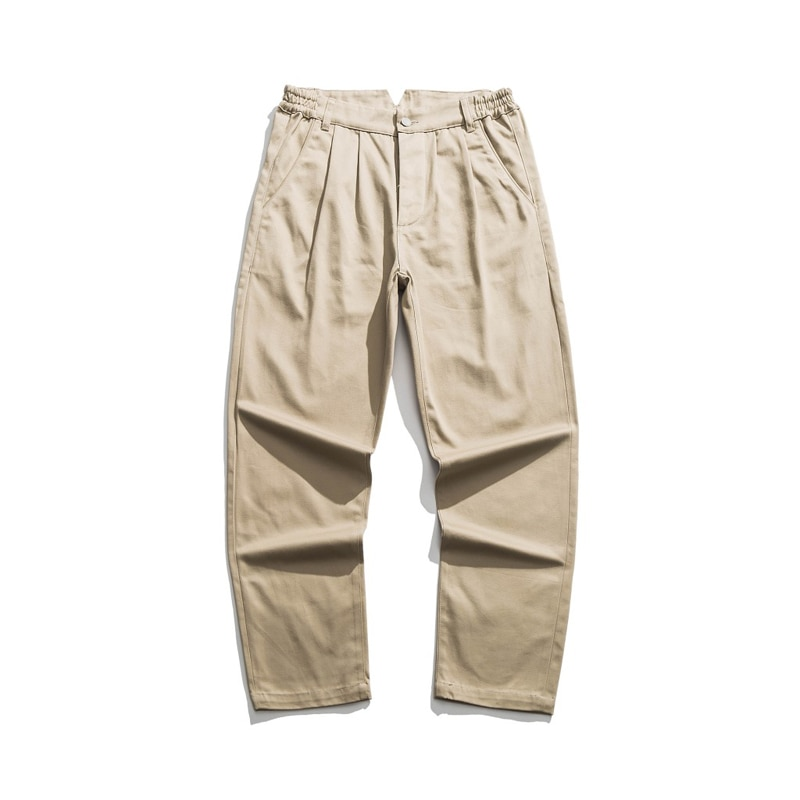 Repro 1960s caqui Chino US ejército militar oficial doble plisado pantalones Selvage