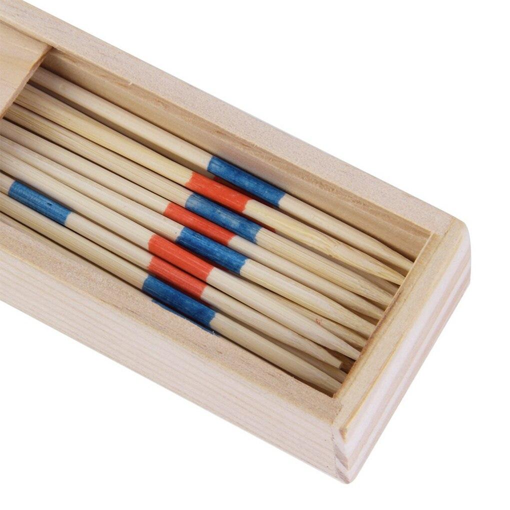 Bebê educacional de madeira tradicional mikado spiel pegar varas com jogo caixa crianças montessori número matemática brinquedos do bebê de madeira