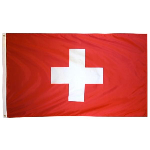 Johlin 90x150 см белый крест ch che Швейцарский флаг