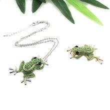 1/Pc en alliage de Zinc strass Animal grenouille broche femme créatif dessin animé corsage sauvage grenouille broches broches couleur or Rose