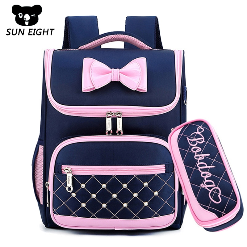 Bolsas escolares para niños SUN ocho mochilas para niñas Mochila impermeable Mochila escolar primaria Mochila azul marino/rosa/púrpura
