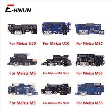 Разъем для зарядки, запчасти для платы, гибкий кабель с микрофоном для Meizu U20 U10 M6 M6S M5 M5C M5S Note 8