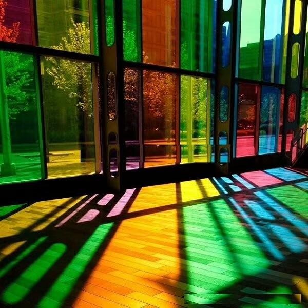 Película de ventana de vidrio decorativa de colores, 90cm x 200cm, aislante,...