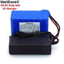 VariCore 24 V 6Ah 6S3P 18650 batterie li-ion batterie 25.2 v BMS 6000 mah vélo électrique cyclomoteur/électrique/batterie + 1A chargeur