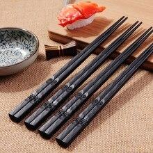 1 пара, японские палочки для еды из сплава, Нескользящие палочки для суши, палочки для еды, китайские подарочные палочки для еды, многоразовые палочки для еды 18Oct