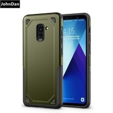 Pour Samsung Galaxy A6 A8 Plus 2018 PC + Silicone Militaire Anti Chocs Robuste étui pour Samsung 6 8 Plus 2018 Bâche armée