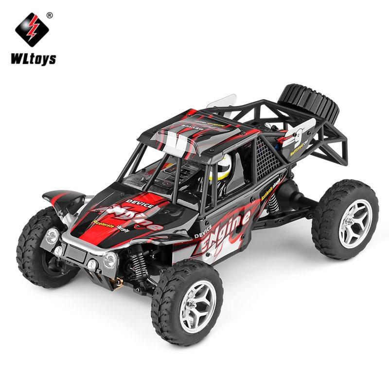 WLtoys 18429 118 4WD RC coche 2,4G todoterreno desierto Radio Control RC Buggy coche Rover de alta velocidad mini RC Coche