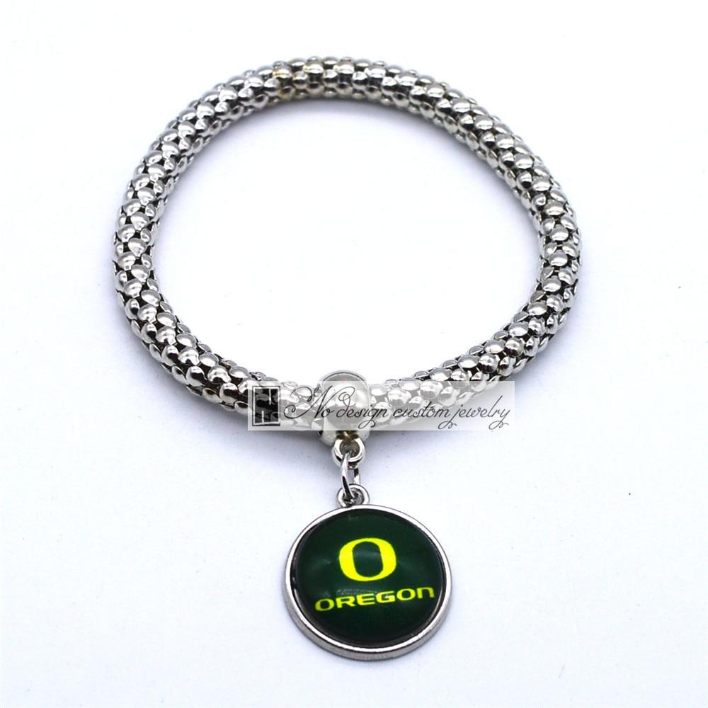 2017 Jóias Na Moda Pulseira Esporte NCAA Oregon Ducks Charms Bracelet & Bangle Mulheres Homens Acessórios de Moda