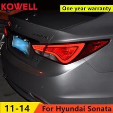 KOWELL Car Styling for Hyundai Sonata led taillights 2011-2014 parking led Sonata 8 tail lamps led rear lights led light guide