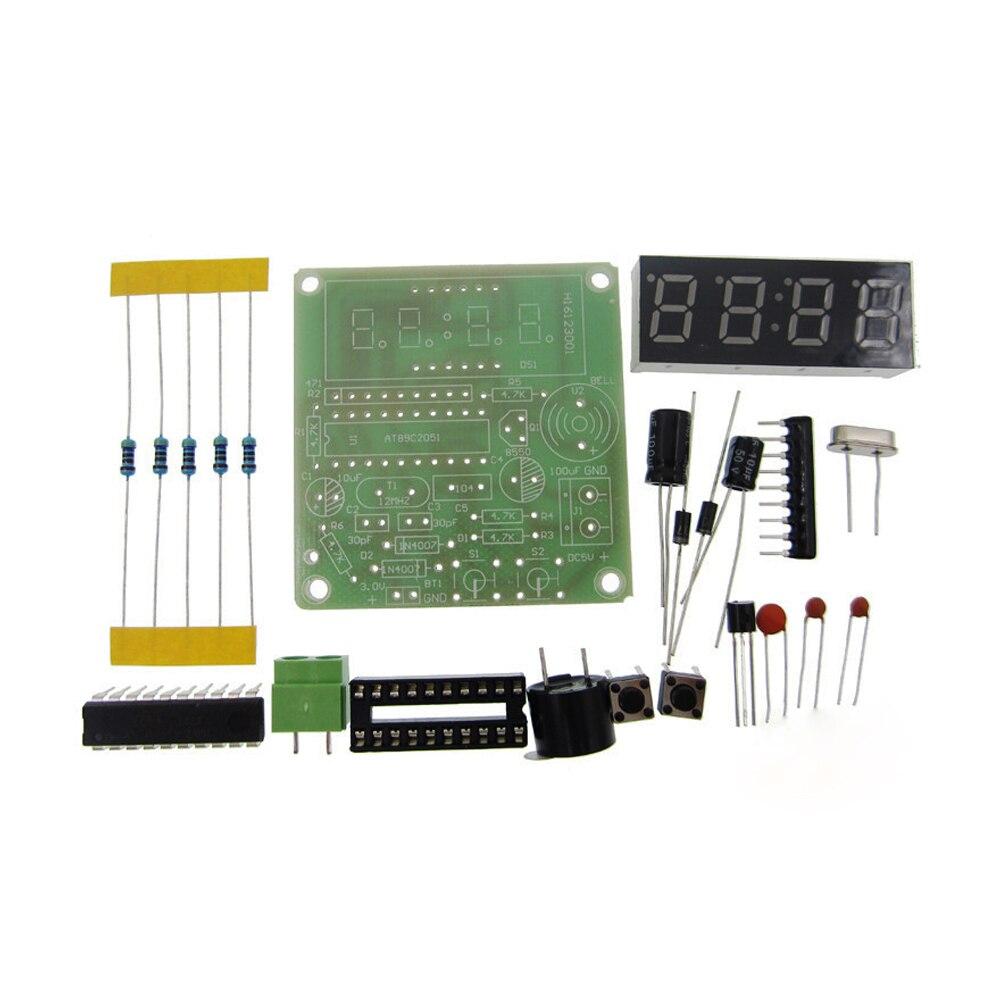 5 комплектов, высокое качество, C51, 4 биты, электронные часы, набор для производства электроники, наборы для самостоятельного изготовления