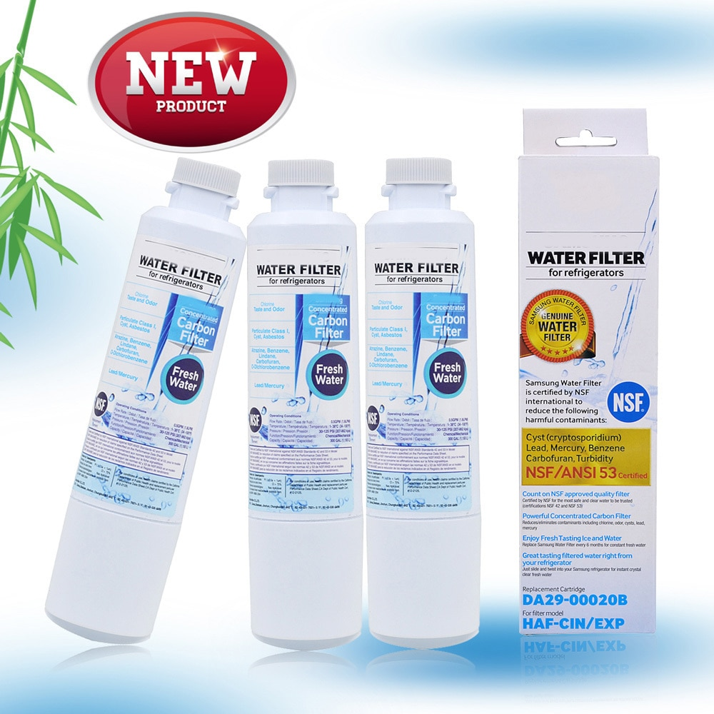 Best Sale Refrigerator Water Filter Active Carbon Water Filter Replacement For Samsung Fresh Water Da29 -00020b 3 Parts  lot replacement internal active carbon filter for the water ionizer only