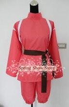 Esprit loin héroïne Ogino Chihiro Anime Costume de Cosplay uniforme rose sur mesure
