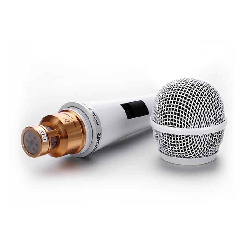 Takstar PCM-5550 wired 3.5mm standard interface handheld condenser microphone for computer Karaoke network singing enlarge
