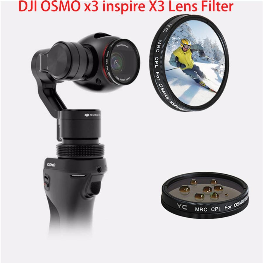 DJI OSMO MCUV CPL ND4 ND8 ND16 ND32 ND64 фильтр для объектива и набор фильтров аксессуары для держатель для DJI OSMO Gimbal Inspire 1 Zenmuse X3