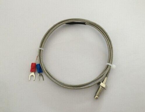 5 pcs 1 metro de cabo parafuso termopar tipo K WRNT-01 M6 * 1, 0 de medição-600 ° C sensor de temperatura