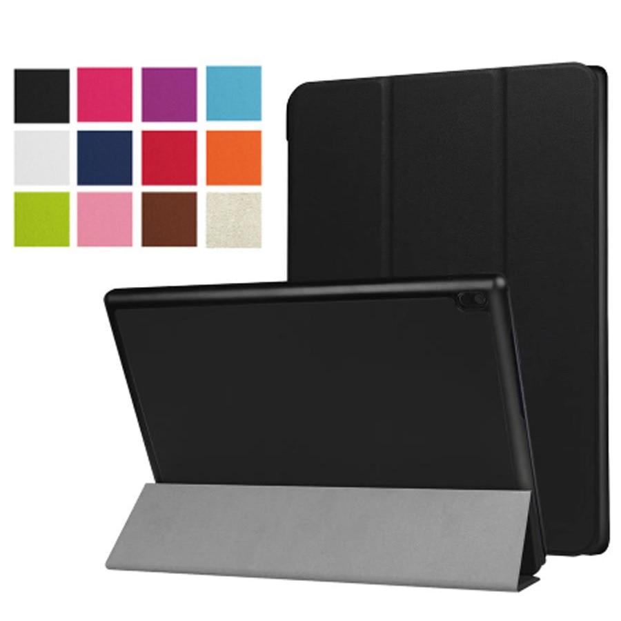 Funda de cuero PU Tab4 10,0 TB-X304F X304N Funda protectora para tableta para Lenovo tab 4 10 Funda inteligente + película + lápiz óptico