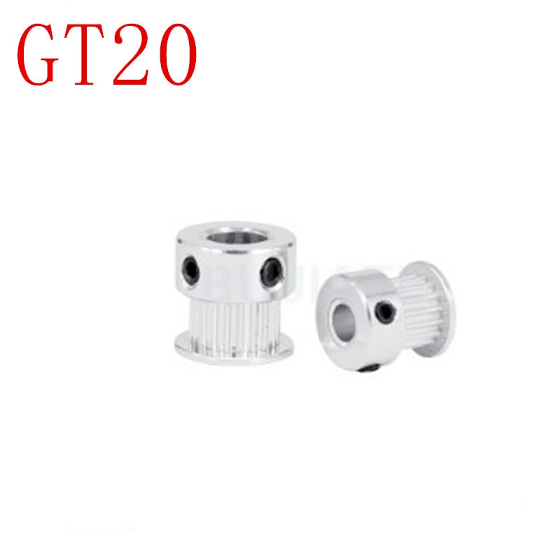 1PC GT2 Timing Pulley 20 teeth Bore 3.17mm 4mm 5mm 6mm 6.35mm 8mm for width 10mm 2GT Synchronous Belt Small backlash 20Teeth