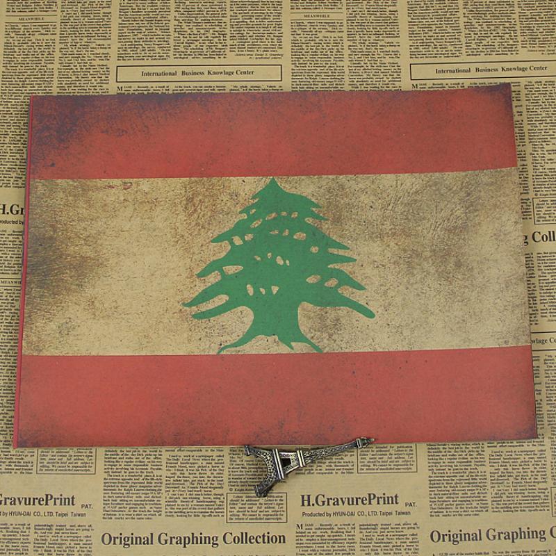 Cuadro de pared de la bandera del país de la Nostalgia RMTT-017 póster de papel Kraft vintage para la pared de la sala de estar