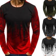 Oeak grande taille t-shirts hommes printemps à manches longues lâche t-shirts décontracté imprimé Streetwear mâle Hip Hop T-shirt haut