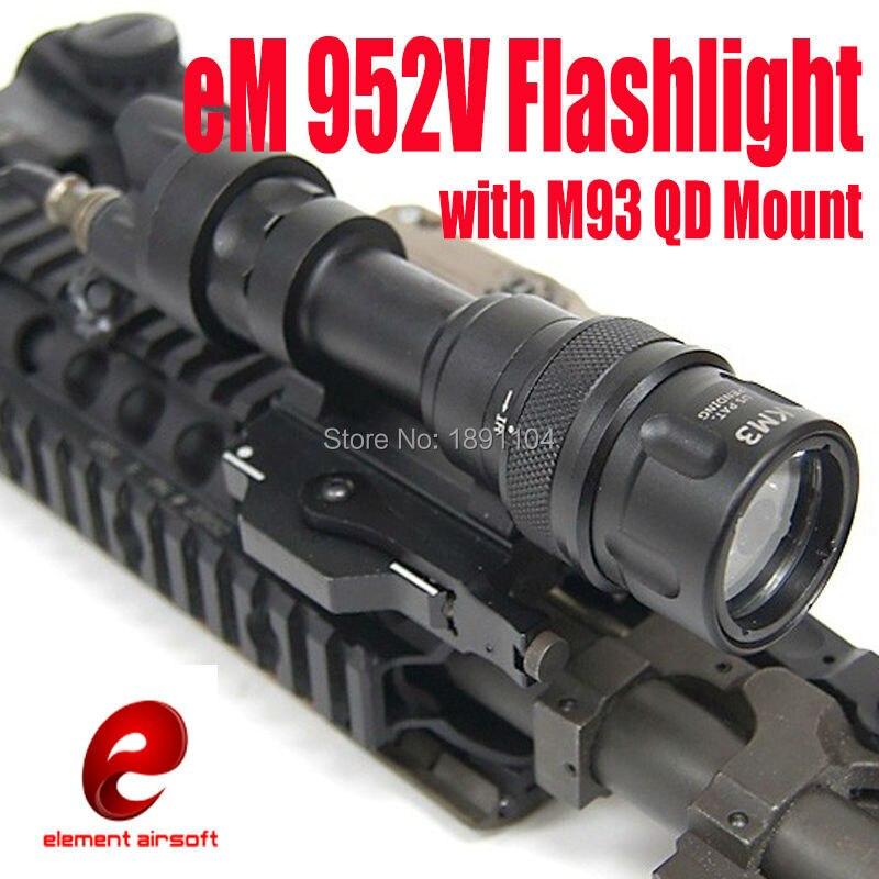 Тактический фонарь Element M952V, светодиодный фонарик с креплением M93 QD, сигнальные огни (EX 192)