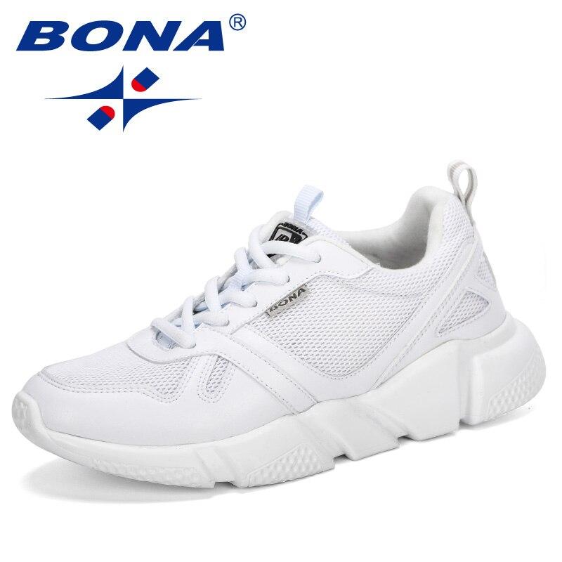 BONA, 2019, nuevo estilo, zapatillas transpirables para exteriores, zapatillas de tacón grueso para mujer, zapatillas de plataforma, zapatos informales para mujer, zapatos cómodos