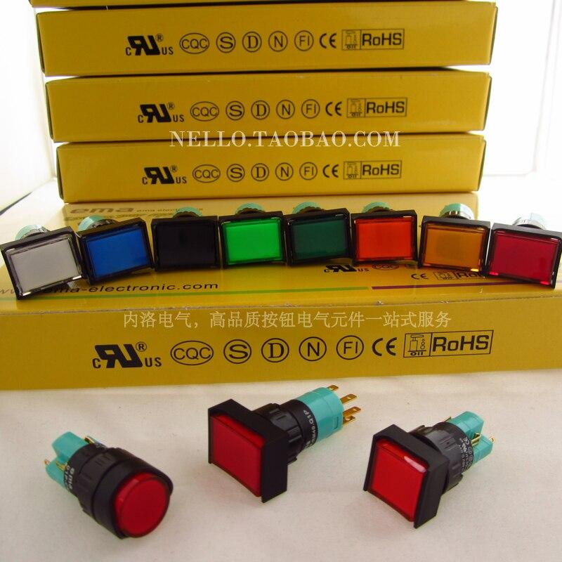 [SA]EMA زر 16 مللي متر الذاتي قفل 01P-RA40.Q1P 01P-RA40.S1P مستطيل جولة مربع دون ضوء لحظات -- 10 قطعة/الوحدة