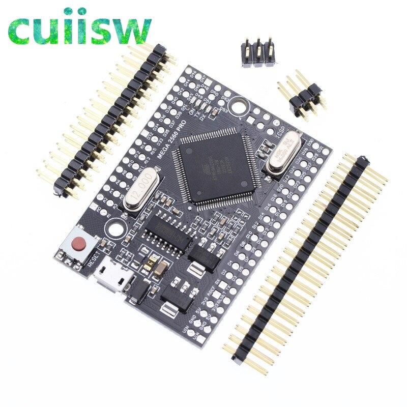 Cuiisw Mega 2560 PRO MINI 5V (intégré) CH340G ATmega2560-16AU avec tenailles mâles Compatible pour arduino Mega 2560