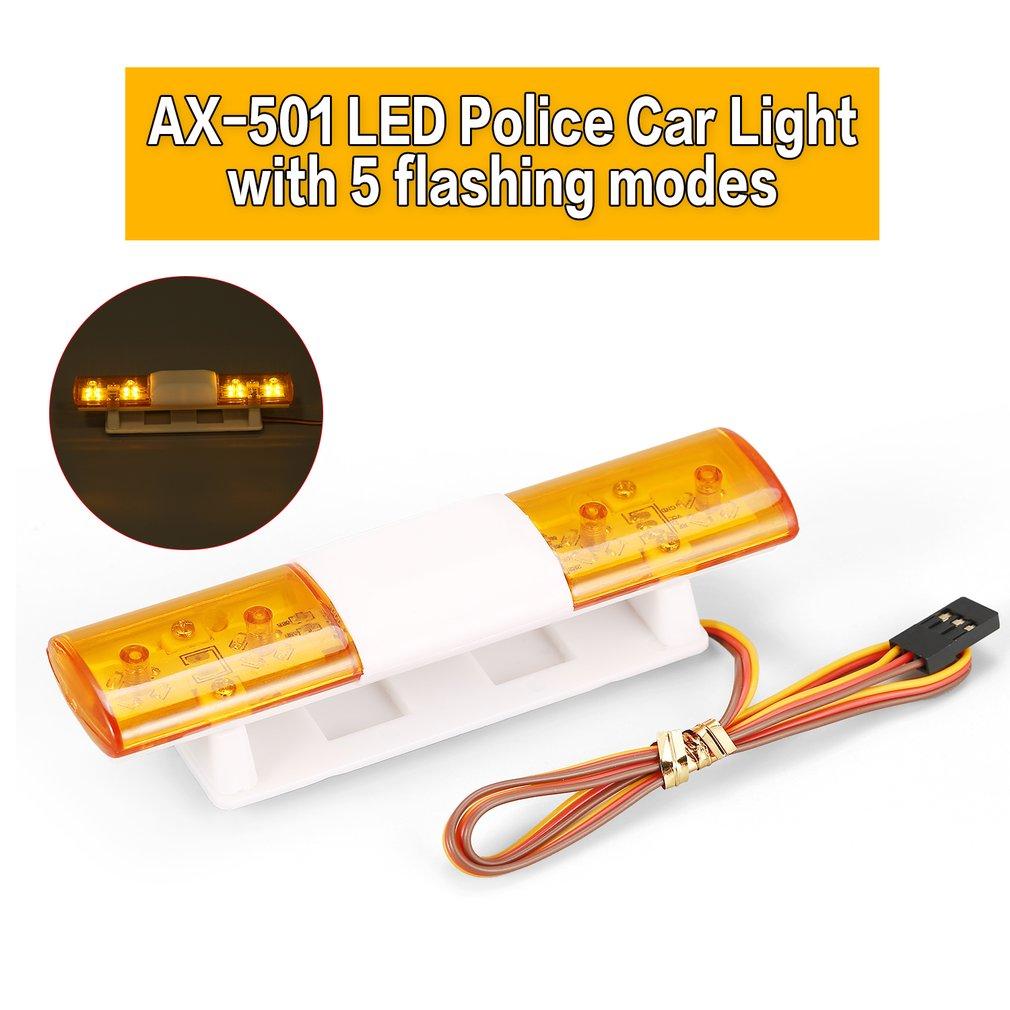 AX-501 multifunción giratorio intermitente LED policía RC luces de coche lámpara para 1/10 1/8 HSP Traxxas TAMIYA CC01 Axial SCX10 D90