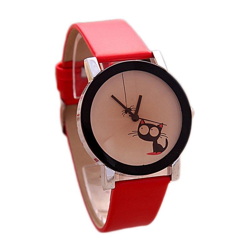 Funny Cute Kids Cat Fashion Watch Women Wristwatch Hour Lady Child Girl Dress Causal Quartz  LXH