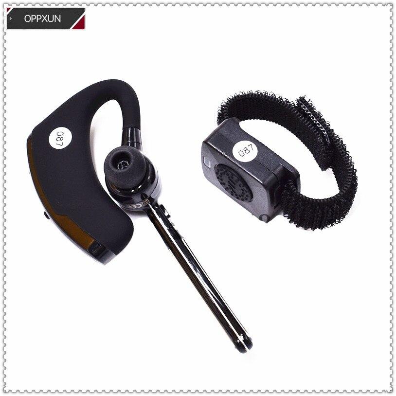 K-head de Auriculares inalámbricos con Bluetooth Universal para baofeng UV5R UV82 UV6R UV8 2PIN Para kenwood TK3107 radios J65