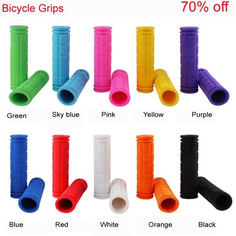 Empuñaduras de goma suave antideslizantes para bicicleta, empuñaduras de Manillar de bicicleta de montaña BMX MTB