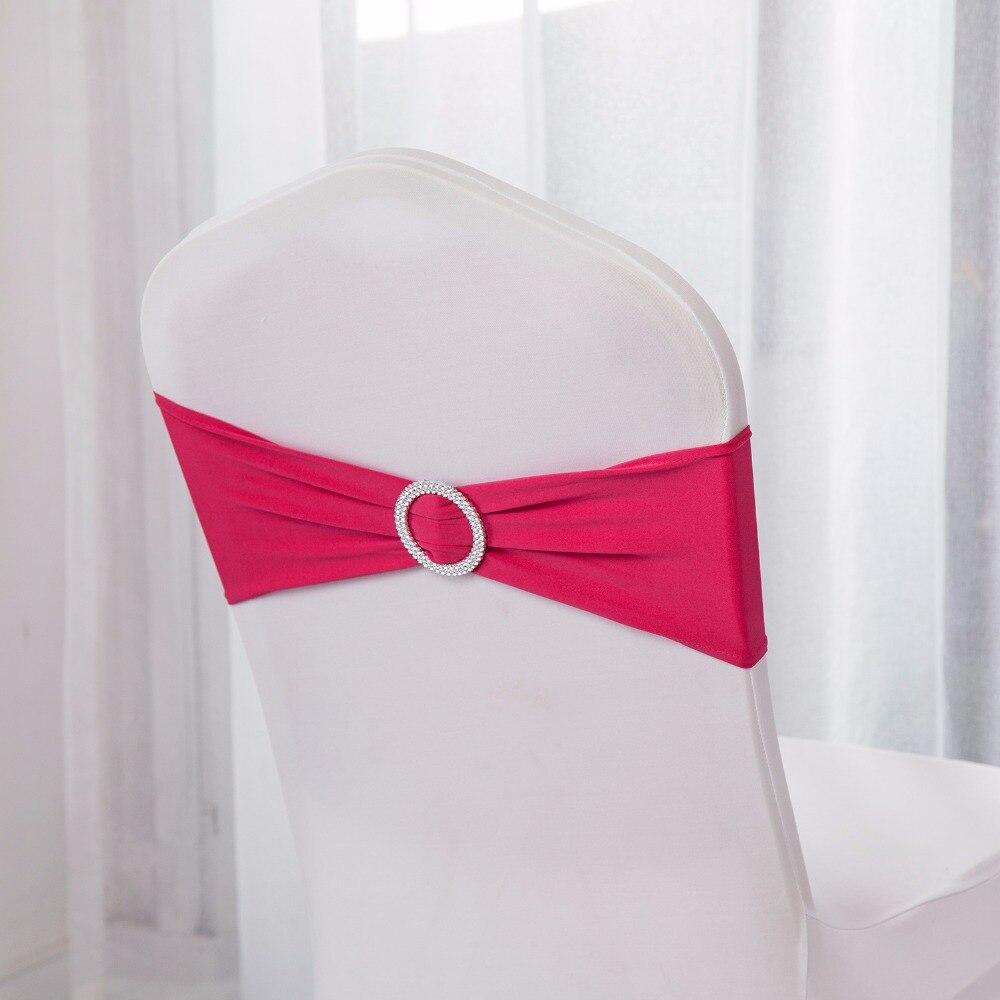 Nave de Alemania 100PC bandas de Lycra para sillas faja con espándex para silla Stretch de Lycra banda para silla con hebilla para decoración para fiesta de boda