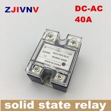 SSR hoogspanning eenfase DC AC Solid state relais 40a, input 3-32vdc, output 90 ~ 480vac, SSR 40DA ZG3NC-340B