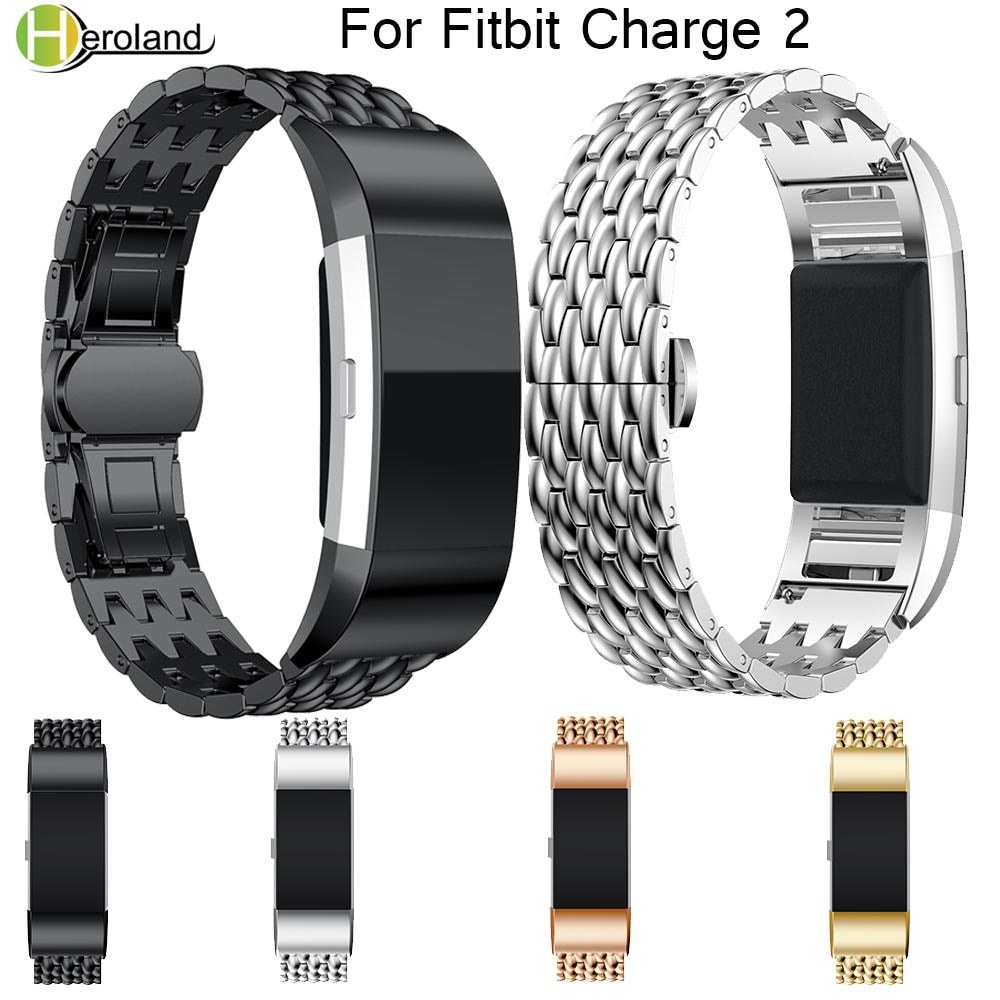watch band Metal Strap For fitbit charge 2 wrist strap Screwless Stainless Steel Bracelet For Fitbit charge2 Wristbands Replace watch strap new accessory watch strap solid stainless steel fashion luxury women metal strap bands for fitbit ionic strap