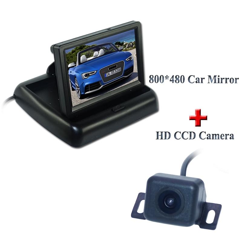 Auto ParkingFactory Preis Unterstützung System 4,3 Zoll TFT LCD Auto-rück Spiegel Heckmonitor + Rückfahrkamera