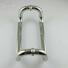400mm Elbow stainless steel big gate door handles bright KTV office hotel glass door pulls handles