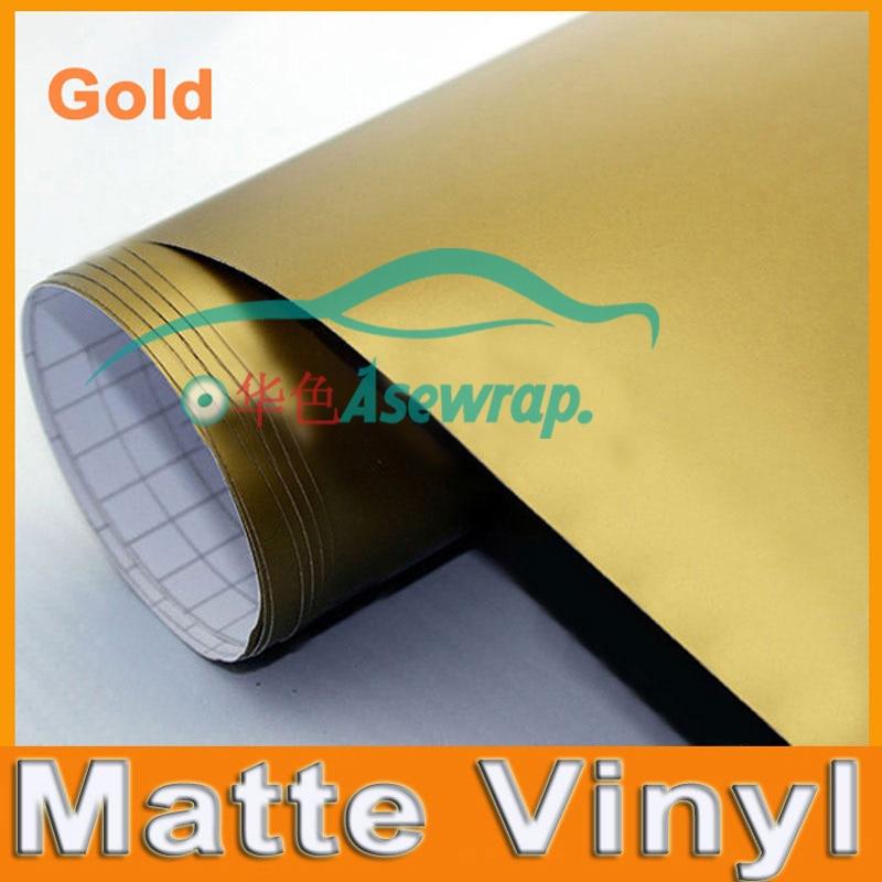 Золотая матовая виниловая пленка, сатиновая матовая пленка для оклейки машины, пленка для украшения автомобиля, виниловая пленка с разным размером ca стикер