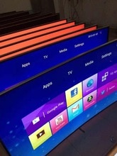 Personnalisé OEM android TV 65 Pouces Android Intelligent wifi/lan LCD HD LED télévision