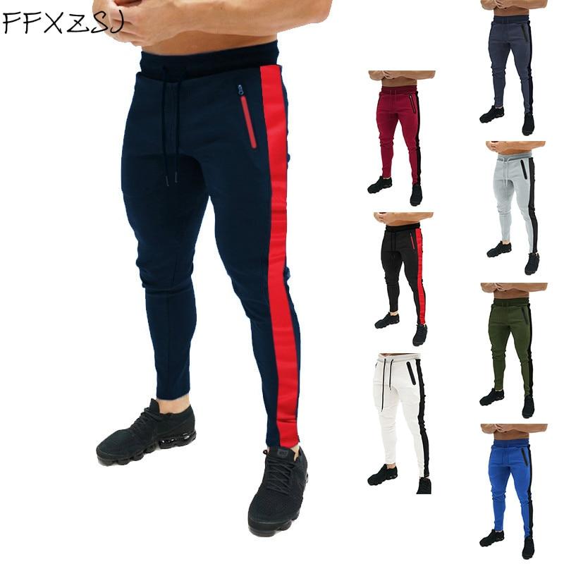 Весна 2019, штаны для бега, мужские однотонные тренировочные штаны для спортзала, спортивная одежда, джоггеры, спортивные штаны, мужские спорт...