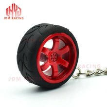 Hot Car Auto Enthusiasts Parts Pendent Keychain Te37 wheel rim Rubber tire Car Wheel Keychain
