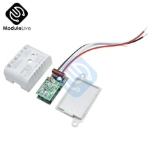 220V Auto PIR Infrarot Menschlichen Körper Motion Sensor PIR Sensing Schalter Mikrowelle Radar Sensor Controller Schalter für LED Lampe