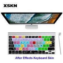 XSKN Adobe après effets raccourci Silicone Hotkeys clavier couverture de la peau pour Bluetooth clavier magique