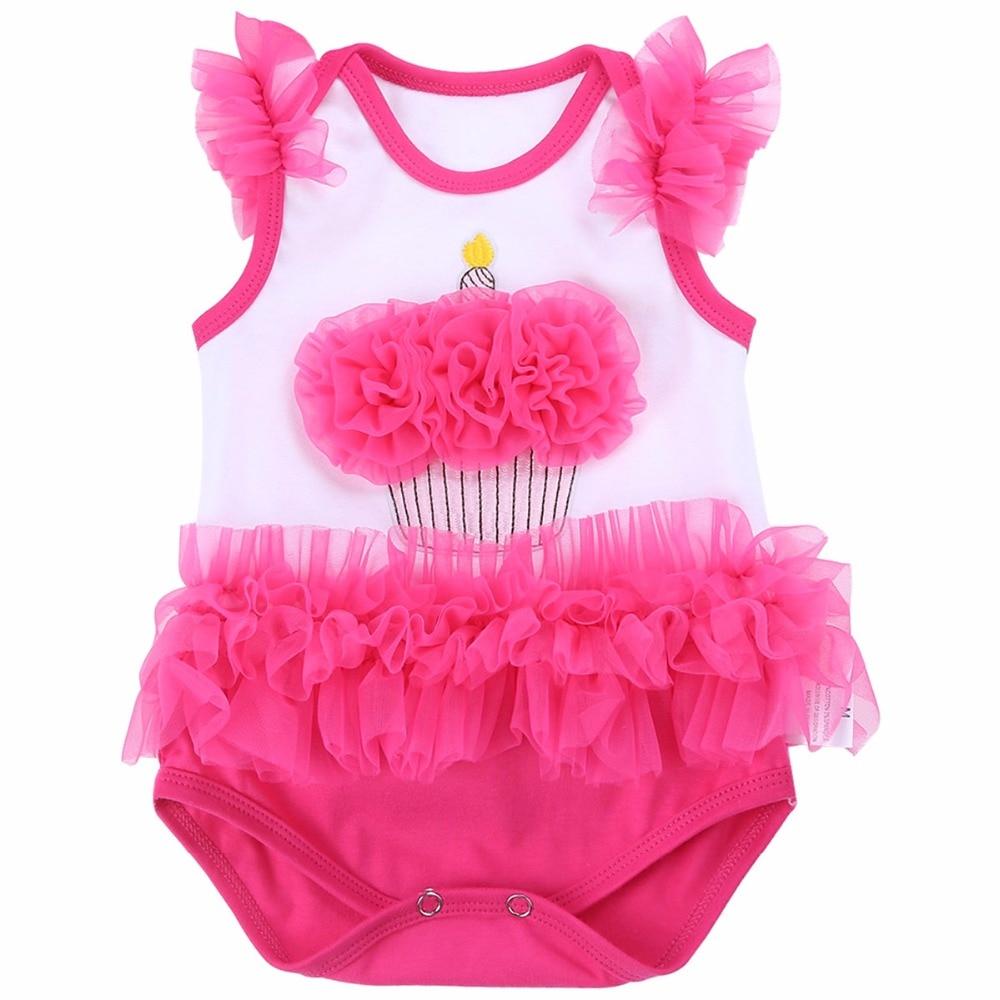 24M Girl Baby Clothes Tutu Newborn 2017 Body Bebe Baby Rompers;Unicorn Cotton Sleeveless Lace Short Infant Clothing Baby Onesie