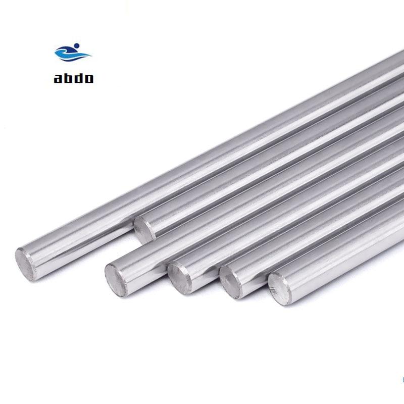 Free shipping 1Pcs 8mm Linear Shaft Chrome OD 8mm L 600mm High quality Harden Steel Rod Bar Cylinder Linear Rail CNC 3D printer